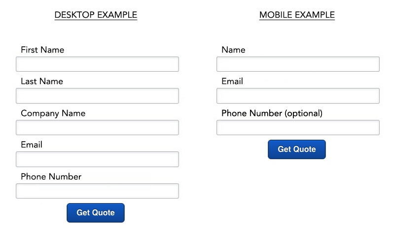 Reduce Form Size | How To Increase Mobile Conversion Rates in 4 Simple Steps