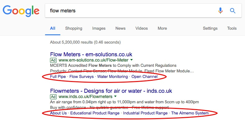 Google Ads - ad copy example
