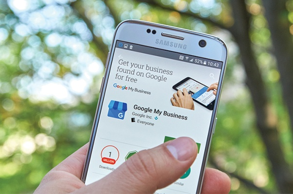 Google my business on mobile - b2b seo tips